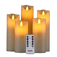 UN SET COMPLETO DI CANDELE SENZA FIAMMA: Questa confezione di qualità è composta da 5 bellissime candele cilindriche senza fiamma, 1 telecomando con 10 tasti diversi e un semplicissimo manuale d'uso. Nello specifico, questo set include una candela ci...