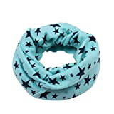 Inverno Primavera Baby Boy Girl Sciarpa a cinque punte Star Scialle per bambini Sciarpe di cotone O Ring bambini fazzoletto da collo (Color : Blu)