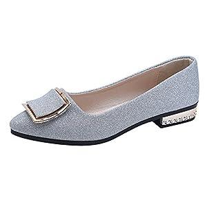 Scarpe da Donna Elegante, ABCone Donne della Punta Aguzza Scarpe Casual Tacco Basso Piane Scarpe da Donna con Tacco, in…