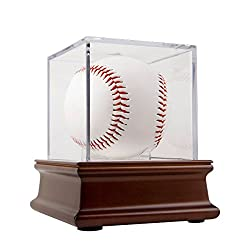 Baseball cases match up with baseballs for gift ideas for the letter b.