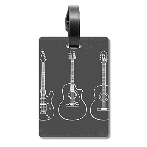 Guitarra Instrumentos de Música Combinación Guitarra Cruise Maleta Etiqueta Tourister Identificación Etiqueta