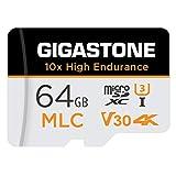 Gigastone 64GB MLC Tarjeta de Memoria Micro SD, grabación de Video 4K de Alta Resistencia 10x, Cámara de Seguridad, Cámara de vigilancia, Cámara de Tablero Compatible 100MB/s, U3 C10