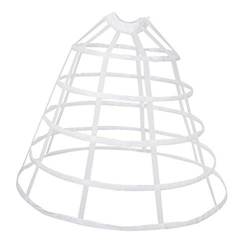 MagiDeal Vintage A-line Reifrock Petticoat Brautkleid Unterrock Unterskirt Krinoline für Hochzeitskleider Ballkleider Abendkleider Brautkleider - Weiß Groß, wie beschrieben