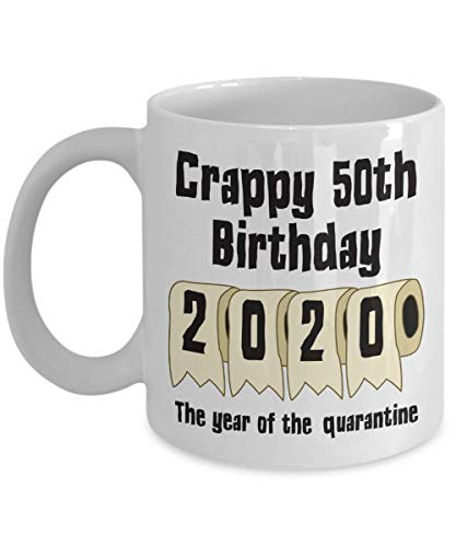 Tazza regalo regalo di compleanno quarantena sociale Distanzia sociale 50 ° regalo Tazza compleanno cinquantesimo traguardo