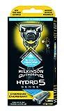 Wilkinson Sword Hydro 5 Sense - Máquina de Afeitar Recargable de 5 Hojas Autoajustable al Contorno con Gel Hidratante para Hombre , Mango con Tecnología Shock Absorb
