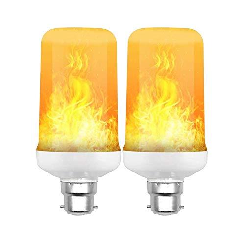 YuoungYuan Led Flame Effect Light Bulb Flickering Candle Bulbs Bayonet Led Light Bulbs E27 Light Bulb Light Bulbs Bayonet Led Light Bulbs For Home Lighting b22,2pack