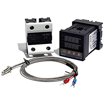 REX-C100FK02-VAN PID Temperature Controller with New Solid State Relay with 1m M6 K Thermocouple