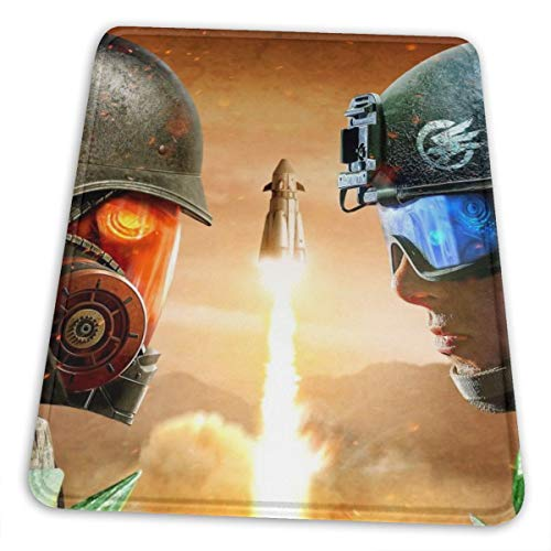 Command Conquer Red Alert Mouse Pad with Stitched Edge Premium-Textured Mouse Mat Rectangle Non-Slip Rubber Base Oversized Gaming Mousepad,for Laptop Computer & PC 7 X 8.6 in