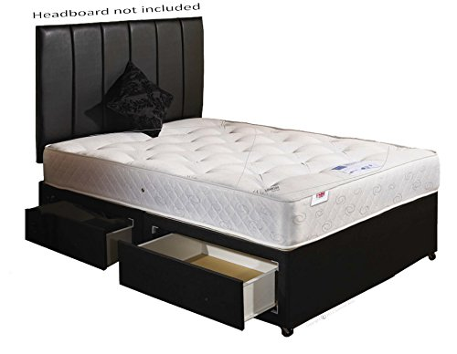 Orthomedic Divan Bed with 2 Draws and Orthopaedic Mattress - Double (4'6)