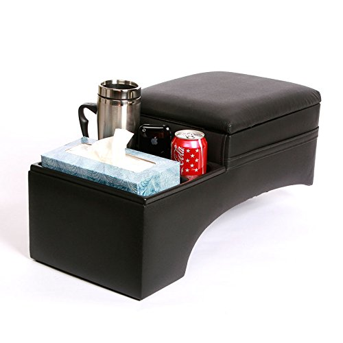 TSI Console - Jumbo Bench Seat Contractors - Black - Will not Work with Stick Shifts - Measures 23.5L x 11W x 11.25H