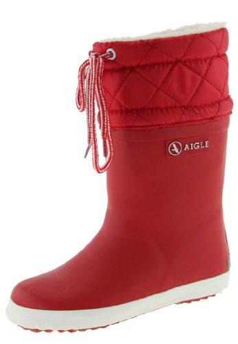 Aigle Giboulee, Botas de Caucho Unisex Niños, Rojo (Rouge/Blanc), 37 EU