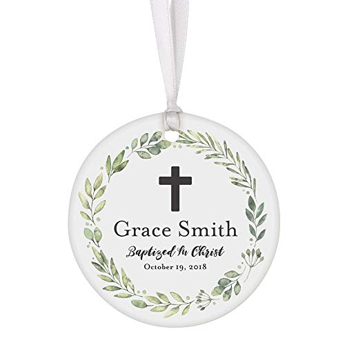 Perfect Memorials Baptized in Christ Personalized Porcelain Ornament