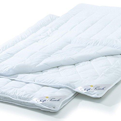 aqua-textil Soft Touch 4 Jahreszeiten Bettdecke 2er Set 135 x 200 cm Steppdecke atmungsaktiv Decke Winter Sommer