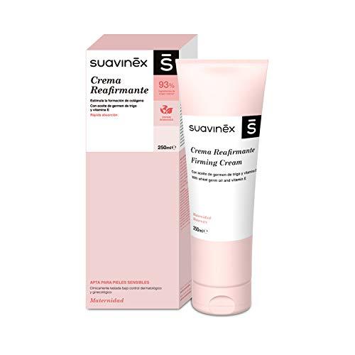 Suavinex – Crema Reafirmante Corporal. Compatible con Lactancia Materna. Recupera el Tono Cutáneo. con Manteca de Karité. 86% Ingredientes de Origen Natural, 250Ml, Rosa
