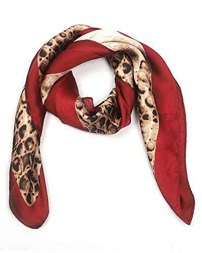 Dielay dames zijden sjaal met slangenprint - hoofddoek - 70x70 cm