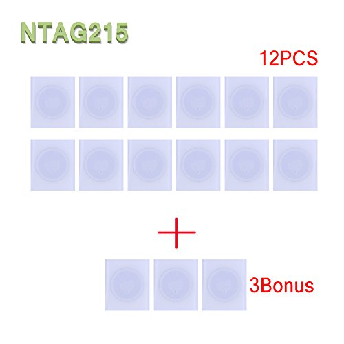 YIQing NFC NTAG215 Tag Stickers(25mm) Used for Amiibos Game Cards and Compatible with Samsung Sony LG Android All NFC-Enabled Smartphones and Devices - NTAG215,TagMo/Amiibo (15PCS)