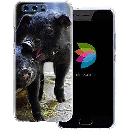 dessana berkel varken transparante beschermhoes mobiele telefoon case cover tas voor Huawei, Huawei P10, Ferkel broers en zussen