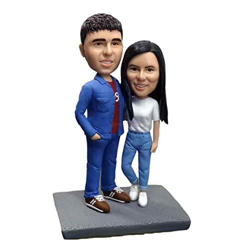 Paar Arm in Arm Figuren Liebhaber Geschenke Figur Figur Skulptur kleine Statue benutzerdefinierte Bobblehead Figuren aus Fotos Wohnaccessoires