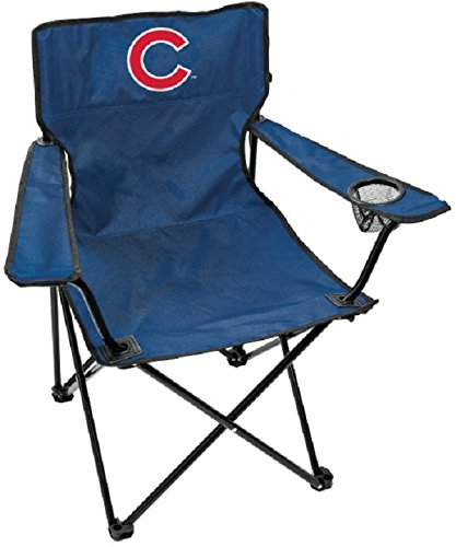 Rawlings MLB Gameday Elite Lightweight Folding Tailgating Chair, with Carrying Case, Chicago Cubs