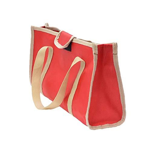 Odoukey Práctico Llevan Bolsa de Almacenamiento portátil de Picnic Utensilios de Cocina Barbacoa Vajilla Bolsa de Almacenamiento para Acampar al Aire Libre Rojo
