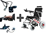 EVOX Electric WheelChair WC 107 Combo Offer | WC 107 With Attendant Controller | Very Light weight | Easy Foldable | Removable Battery | Easy Recharging