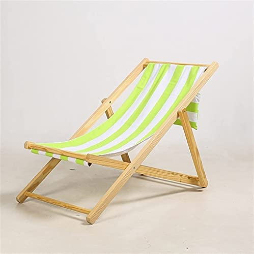 Silla de Playa Plegable de Madera Maciza, sillón reclinable de Lona Oxford,...