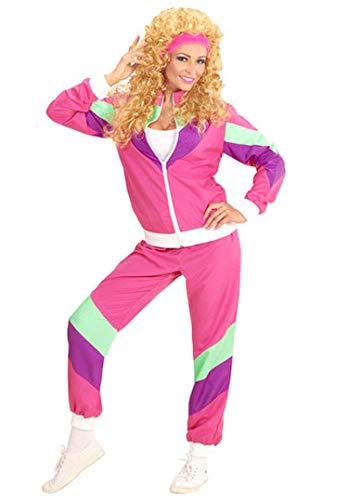 Widmann 98802 - Erwachsenenkostüm, 80er Jahre Trainingsanzug, Jacke und Hose, angenehmer Tragekomfort, Assi Anzug, Proll Anzug, Retro Style, verschiedene Größen, Bad Taste Party, 80ties, Karneval