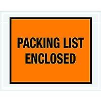 Ship Now Supply SNPL22 Packing List Enclosed Envelopes 7 x 5 1/2 5width 7 Length Orange (Pack of 1000) [並行輸入品]