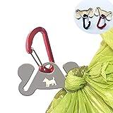 Dog Poop Bag Holder, Waste Bag Holder, Dog Poop Bag Carrier, Hand Free Holder, 2pc