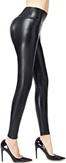 Women's Faux Leather Leggings,Sexy Black High Waisted Pants