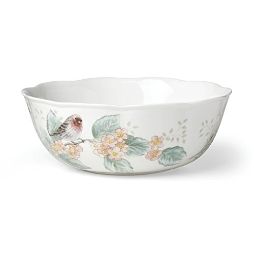 Lenox Butterfly Meadow Flutter Large Serving Bowl, 2.35 LB, Multi