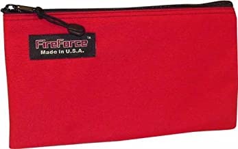 Fire Force 12-1/2-Inch Cordura Ballistic Nylon Zipper Bag Made in USA (Red)