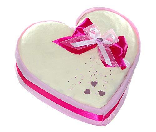 dubistda© XXL Windeltorte Herz rosa - Geschenk zur Geburt für Mädchen / 59-teilig