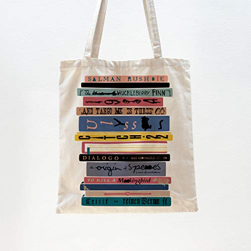 Ihopes Banned Books Reusable Tote Bag | Funny Library Cotton Canvas Tote Bag School Bag Book Lovers Gift for Bookworm Teens Men Women Friends Kids