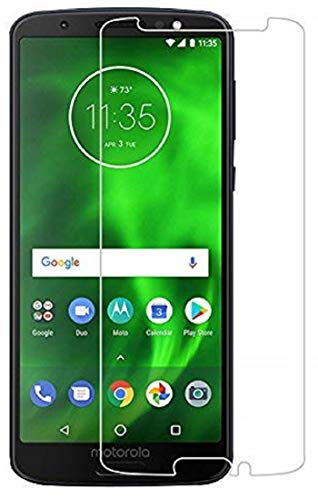 NishTech 2.5D Tempered Glass Screen Protector For Moto G6 Full Screen Coverage (Except Edges) With Easy Installation Kit