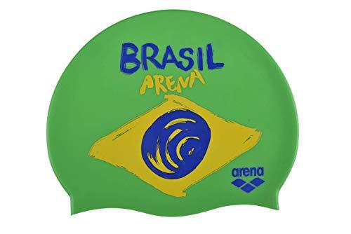 Arena Flags Silicone cap, Cuffie da Nuoto Unisex Adulto, Verde (Brasil), Taglia Unica