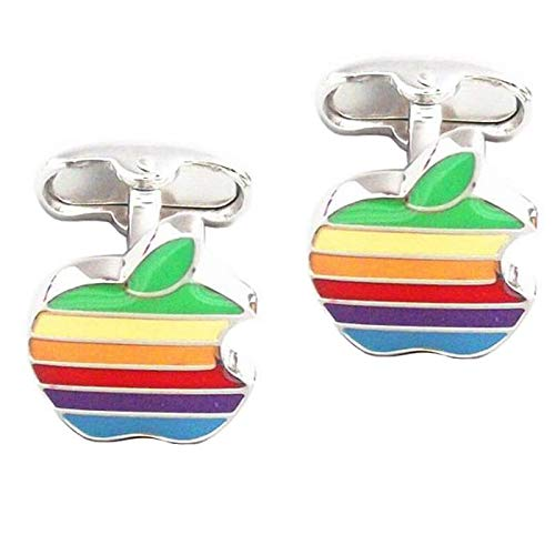 LA BELLE MANCHETTE Manschettenknöpfe Logo Apple Arc in Himmel