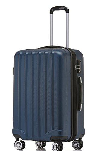 BEIBYE TSA-Schloß 2080 Hangepäck Zwillingsrollen neu Reisekoffer Koffer Trolley Hartschale Set-XL-L-M(Boardcase) (Dunkelblau, M)