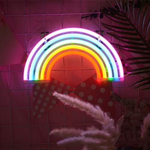 belupai LED Neonlicht-Zeichen Raumdekor LED Neon Nachtlichter Batteriebetrieben und USB-betrieben Innenbeleuchtung Nachttischlampen und Tischlampen für Schlafzimmer Weihnachtsfeier Hauptdekoration