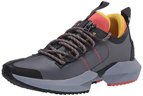 Reebok Sole Fury Trail Running Shoe, Grey/Rosette/Toxic Yellow, 8 M US