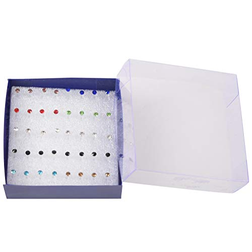 Fltaheroo 20 Pares Colorido Faux Cristal Decor Plastico Aretes Pendientes