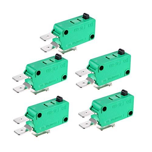 5 piezas KW3-OZ 16A 125/250VAC SPDT NO NC pulsador Tipo de acción Micro interruptores de fin de carreras