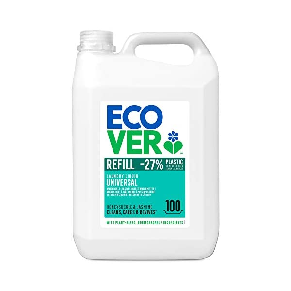 Ecover Universal Detergent Detergent with Honeysuckle and Jasmine Fragrance | Natural Origin for Clean Laundry | Gentle…