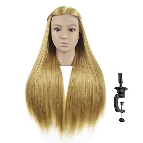 Friseur-Trainingskopf WanSi Cosmetology, Haarlänge 66 cm, zum Üben von Flechten, Styling, mit Klemmen
