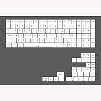 白プロファイルキーキャップ色素サブ紫フォントの色PBTキーキャップのための機械的キーボードGh60 Xd60 Xd84 Tada68 87 96 104 汚れ防止 (Color : CW 96)