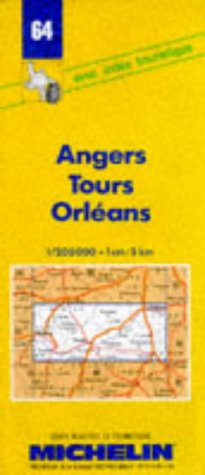 Michelin Angers/Tours/Orleans, France Map No. 64 (Michelin Maps & Atlases)