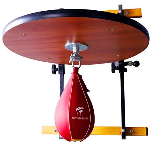 Platform Wall Mount Speed Bag, Piattaforma in Legno Massello Regolabile in Altezza Boxe Sport Home Gym Training