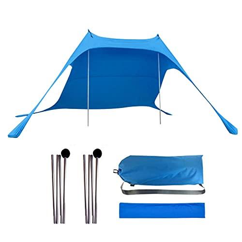 Ombrellone da spiaggia divertente resistente al vento, tenda parasole per famiglie, protezione dai raggi UV con ancoraggi per sacco di sabbia, portatile, per spiaggia, picnic, pesca, campeggio