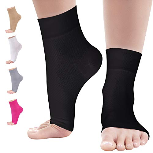 Kemford Ankle Compression Sleeve - Foot Brace for Arch Support - Heel Pain Relief for Women & Men