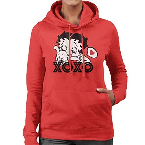 Betty Boop Pudgy XOXO - Sudadera con capucha para mujer